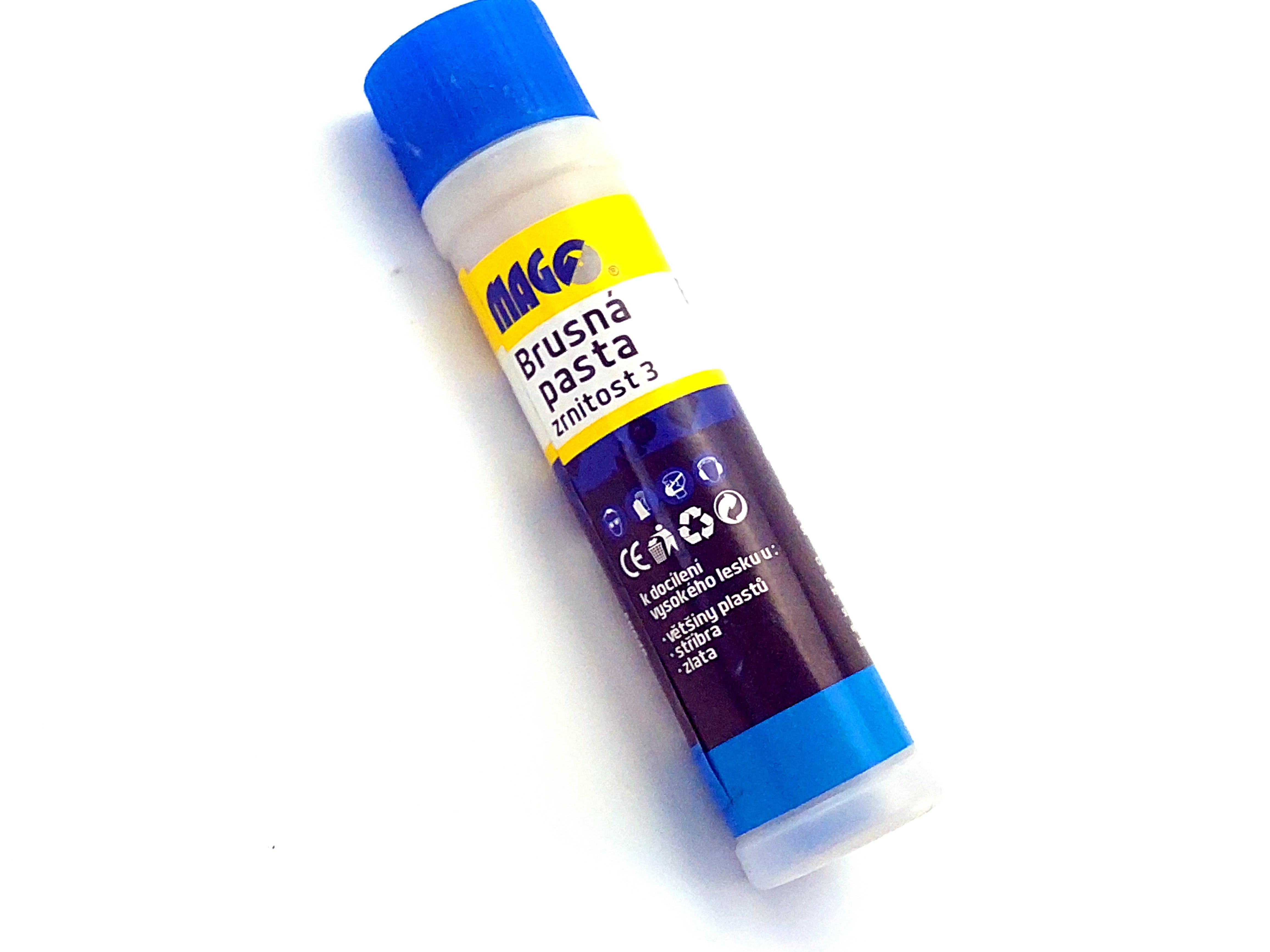 Jemná modrá brusná pasta; zrnitost 3