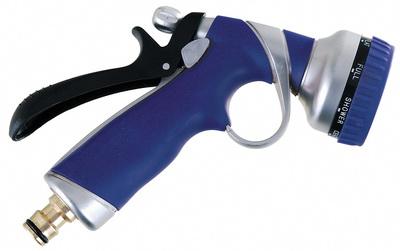 Zahradní stříkací pistole kovová - 8 poloh