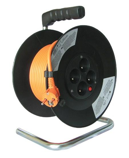 Prodlužovací kabel na bubnu 50m, 4x zásuvka