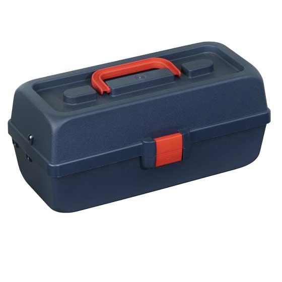 Plastový kufřík na nářadí se 2 přihrádkami, vnější rozměry 335x153x148mm