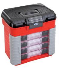 Plastový organizér na spojovací materiál 420x303x400mm - 4 šuplíky - nosnost 150 kg