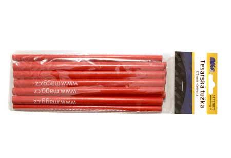 Tesařská tužka 175 mm - červená, balení 12 ks
