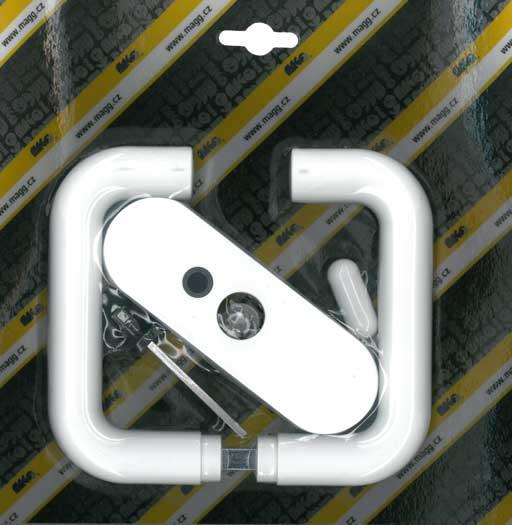 Klika plastová dveřní mezipokojová bílá