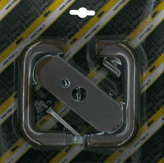 Klika plastová dveřní mezipokojová hnědá