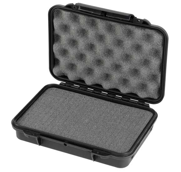 MAX Plastový box, 230x175xH 53mm, IP 67 + čtvercovaná pěna ve spodní části pro individuální úpravu