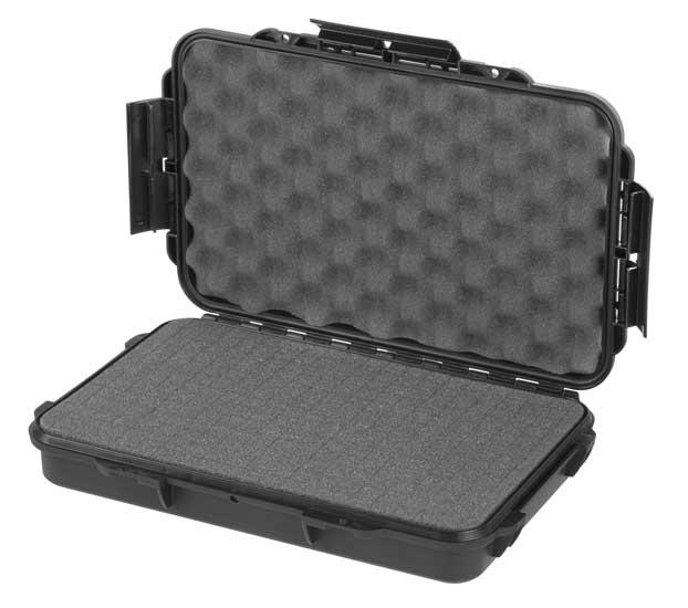 MAX Plastový box, 350x230xH 59mm, IP 67 + čtvercovaná pěna ve spodní části pro individuální úpravu