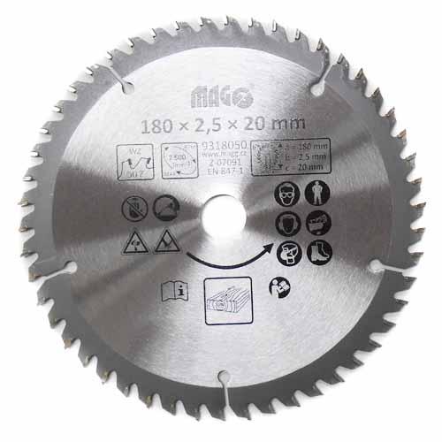Pilový kotouč 180x2,5x20mm/50 zubů - střídavě šikmé