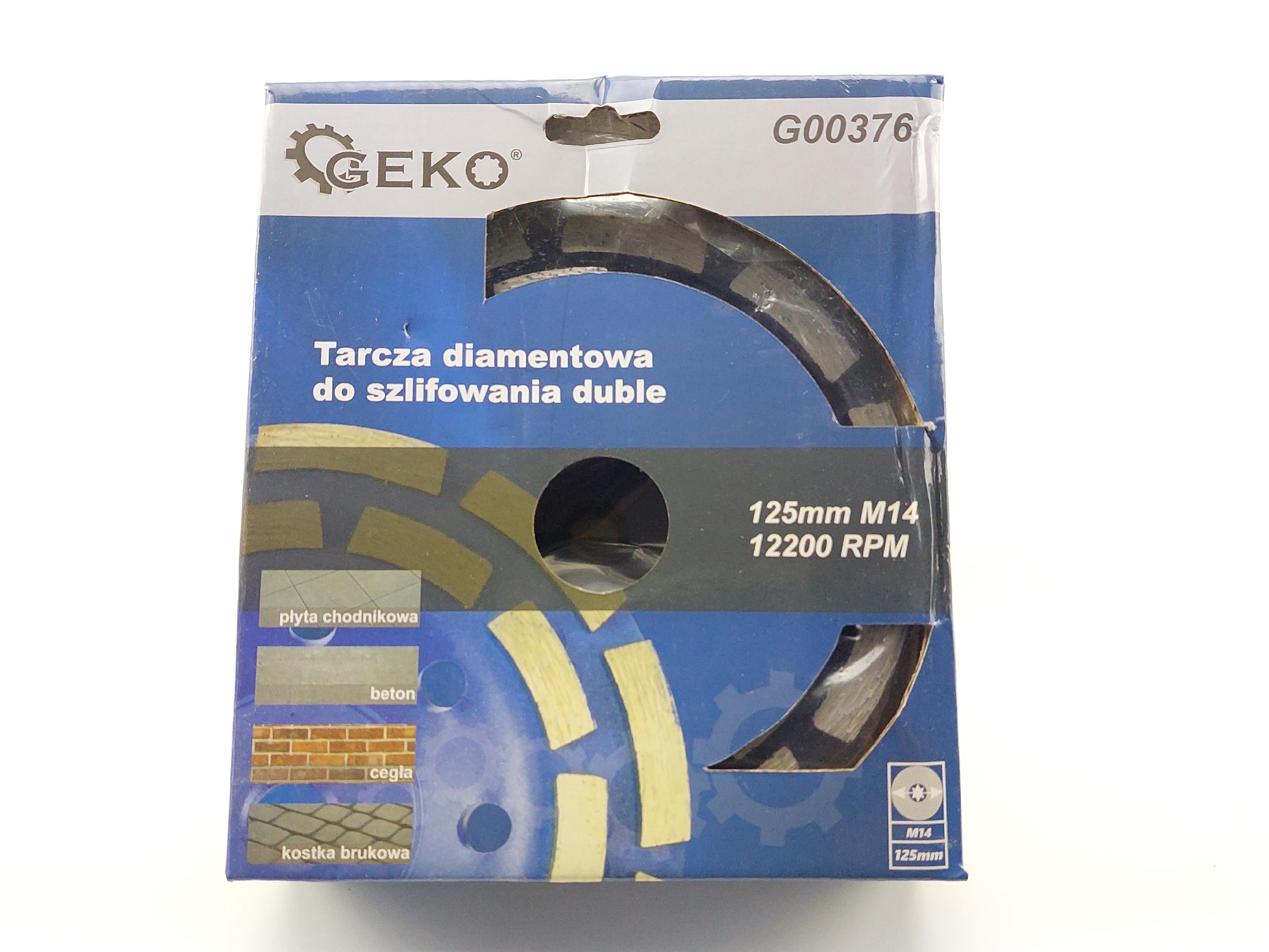 Diamantový brusný kotouč na beton dvojitý segmentový - 125 x M14 x 5 mm
