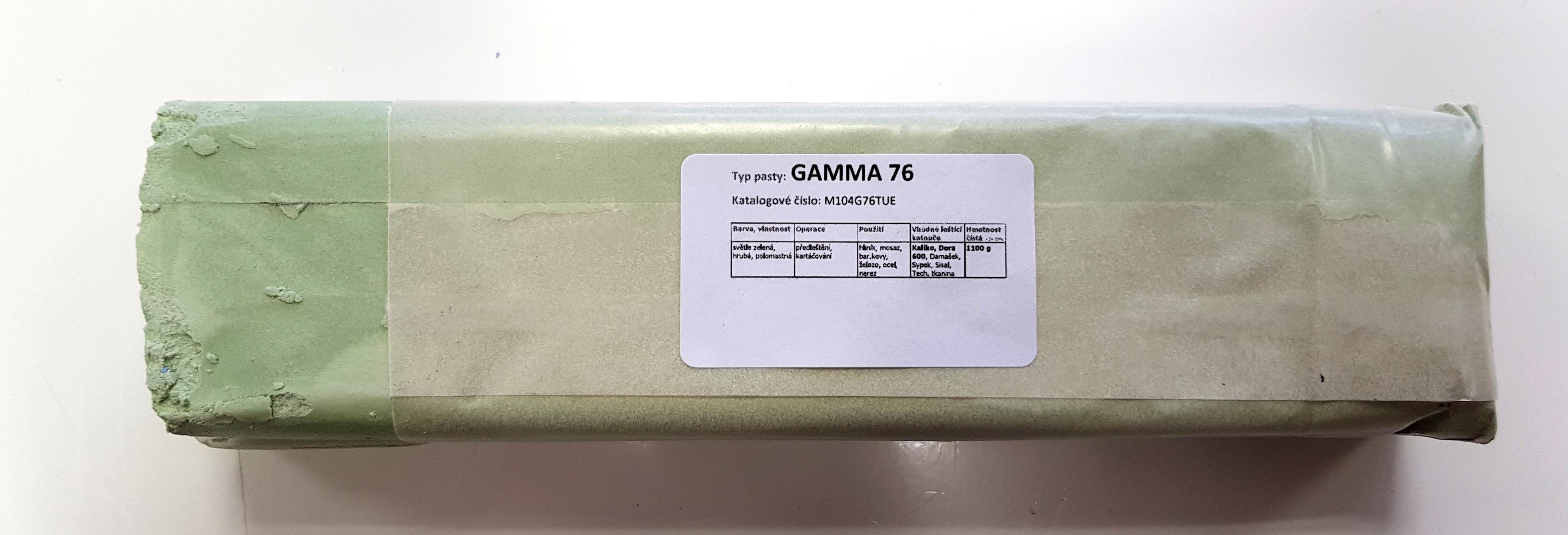 Tuhá pasta GAMMA 76 na předleštění a kartáčování - 1.1kg