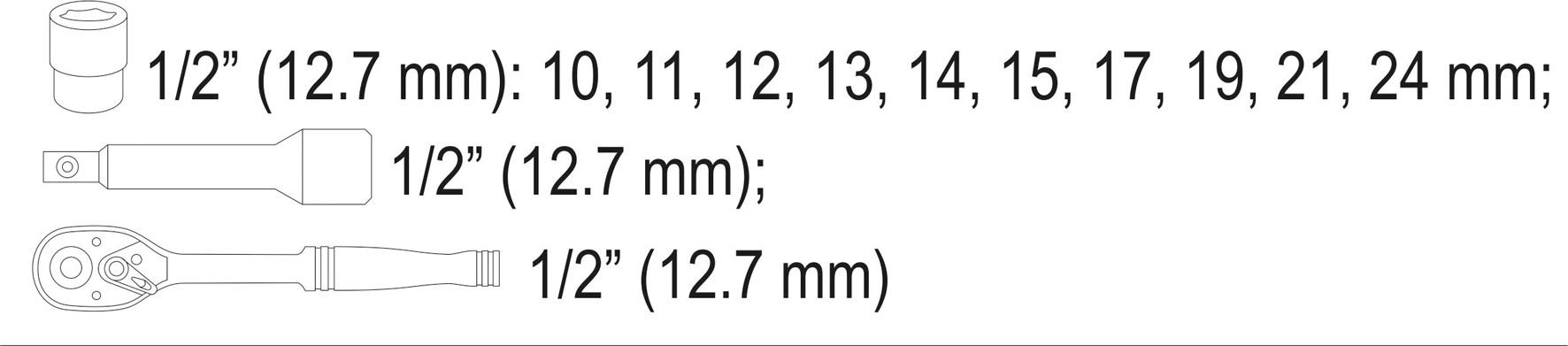 """Gola sada STHOR 1/2"""" 12 ks"""