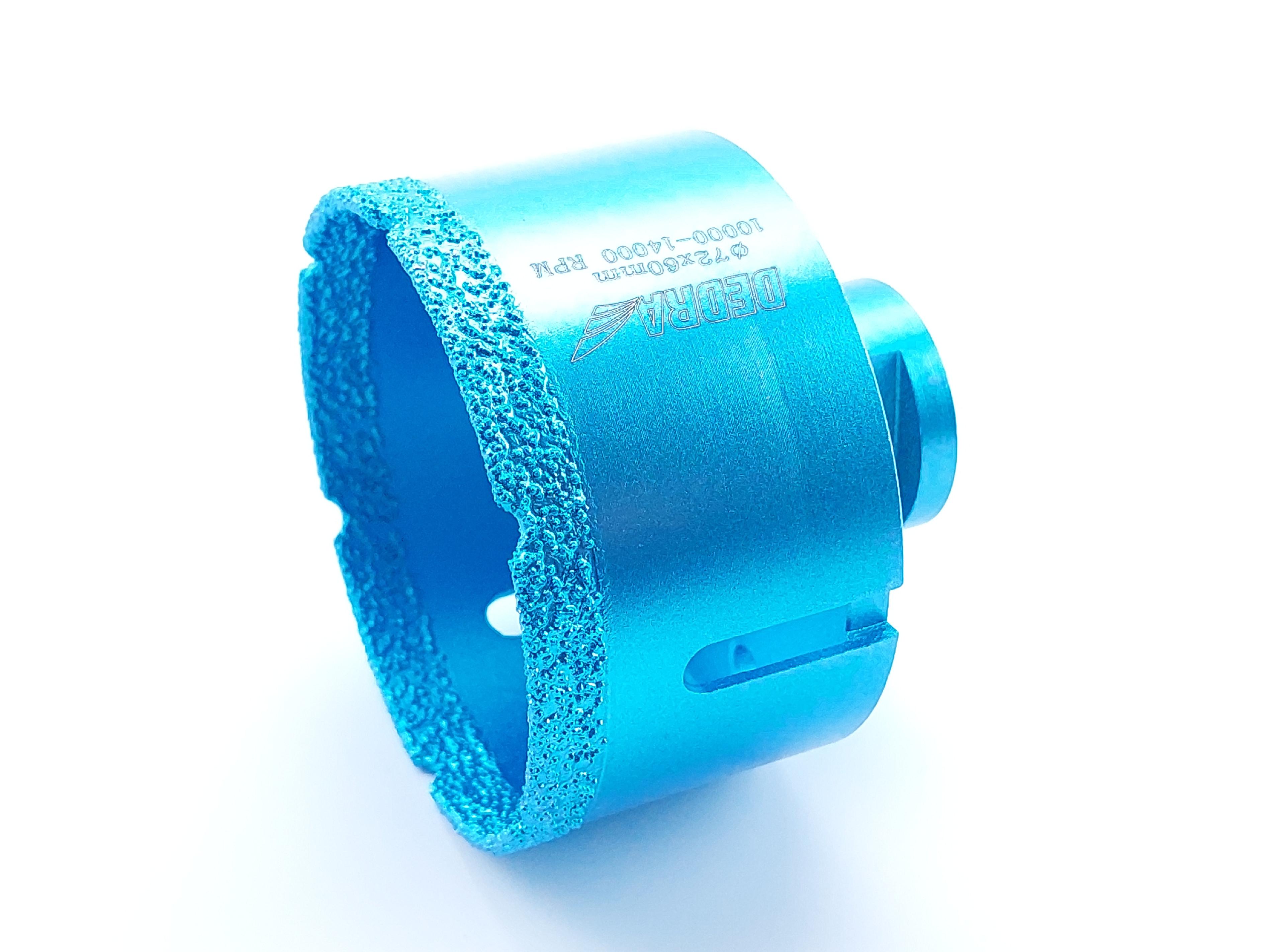 Diamantová vrtací korunka Vacuum brazed do úhlové brusky; průměr 72mm