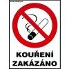 Kouření zakázáno - pro restaurace 120x160mm - samolepka MAGG 120106