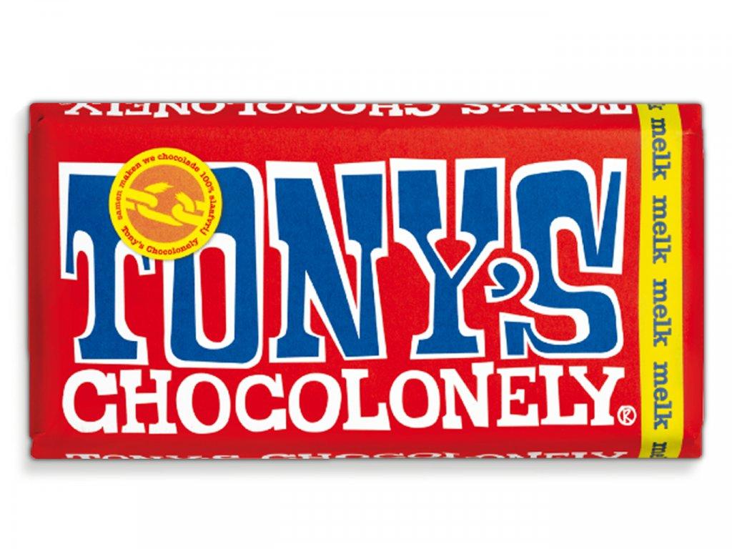 Tony's Chocolonely – mléčná čokoláda, 180 gramů