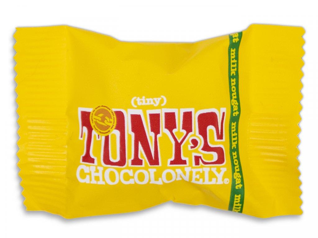 Tony's Chocolonely – mléčná čokoláda, nugát, 9 gramů
