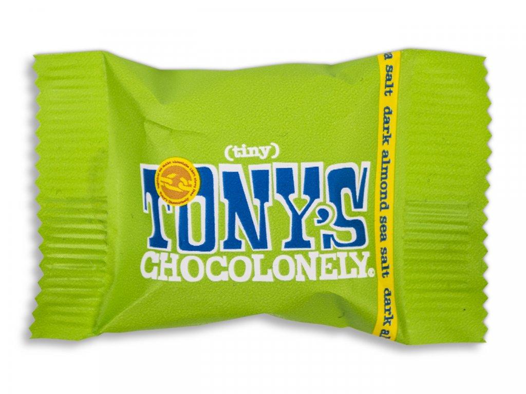 Tony's Chocolonely – hořká čokoláda, mandle a mořská sůl, 9 gramů