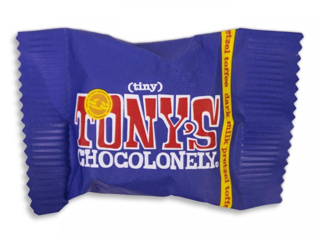 Tony's Chocolonely – mléčná tmavá čokoláda, preclíky a karamel, 9 gramů