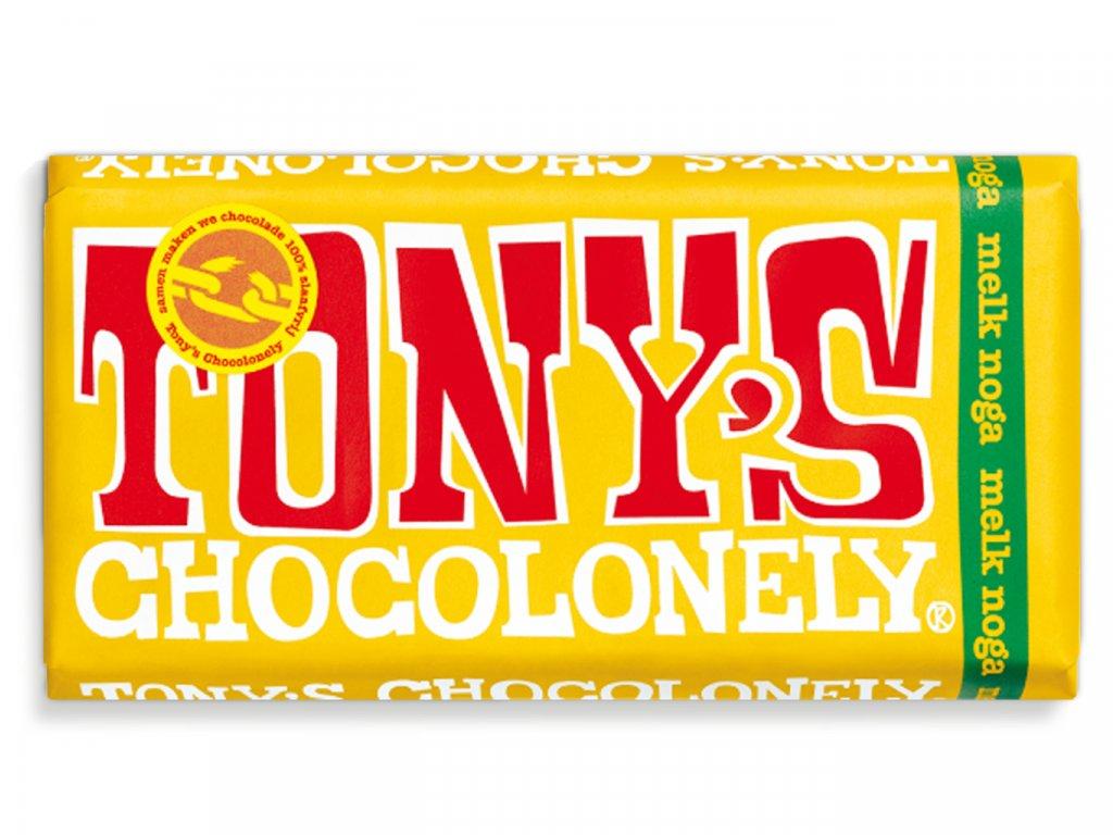 Tony's Chocolonely – mléčná čokoláda, nugát, 180 gramů