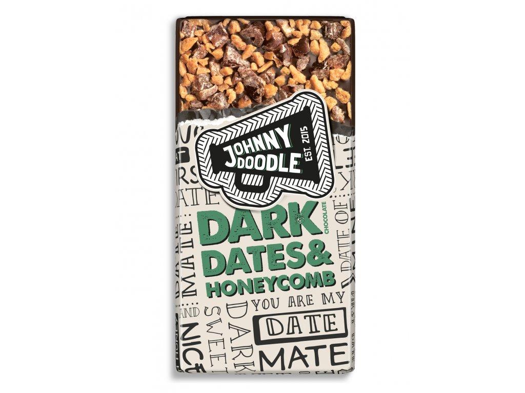Johnny Doodle – hořká čokoláda, medové plástve a datle, 150 gramů