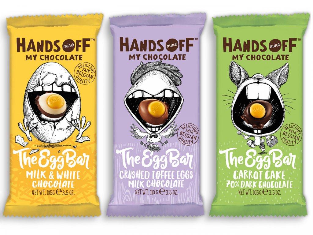 Hands off my chocolate – SADA The Egg bar čokolád, 320 gramů