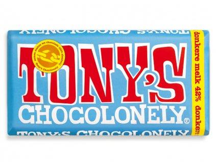 Tony's Chocolonely – mléčná tmavá čokoláda, 180 gramů