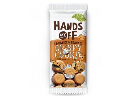 Hands off my chocolate – mléčná čokoláda, křupavé cookies, karamel a mořská sůl, 100 gramů
