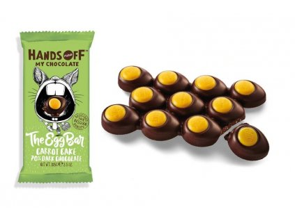 Hands off my chocolate – The Egg Bar, hořká čokoláda, mrkvový koláč, 105 gramů