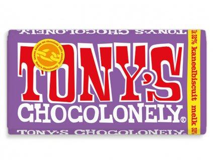 Tony's Chocolonely – mléčná čokoláda, skořicové sušenky, 180 gramů