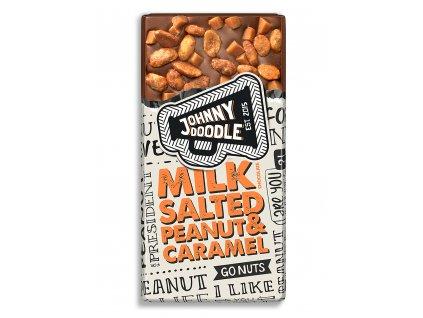 Johnny Doodle – mléčná čokoláda, slané arašídy a karamel, 150 gramů