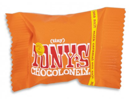 Tony's Chocolonely – mléčná čokoláda, karamel a mořská sůl, 9 gramů