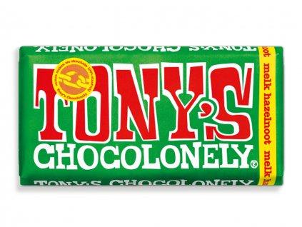Tony's Chocolonely - mléčná čokoláda, oříšky, 180 gramů