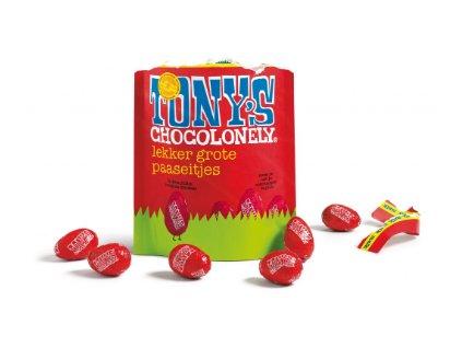 Tony's Chocolonely – mléčná čokoláda - vejce, pytlík 180 gramů