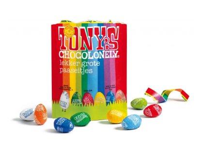 Tony's Chocolonely – mix čokolád - vejce, pytlík 255 gramů