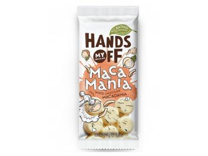 Hands off my chocolate – bílá čokoláda, macadamiové ořechy, 100 gramů