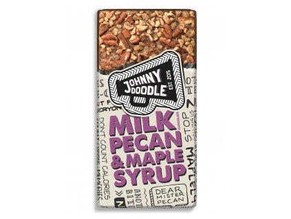 Johnny Doodle – mléčná čokoláda, pekanové ořechy a javorový sirup 150 gramů