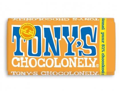 Tony's Chocolonely – hořká čokoláda, kakaový dort, karamel a citron, 180 gramů
