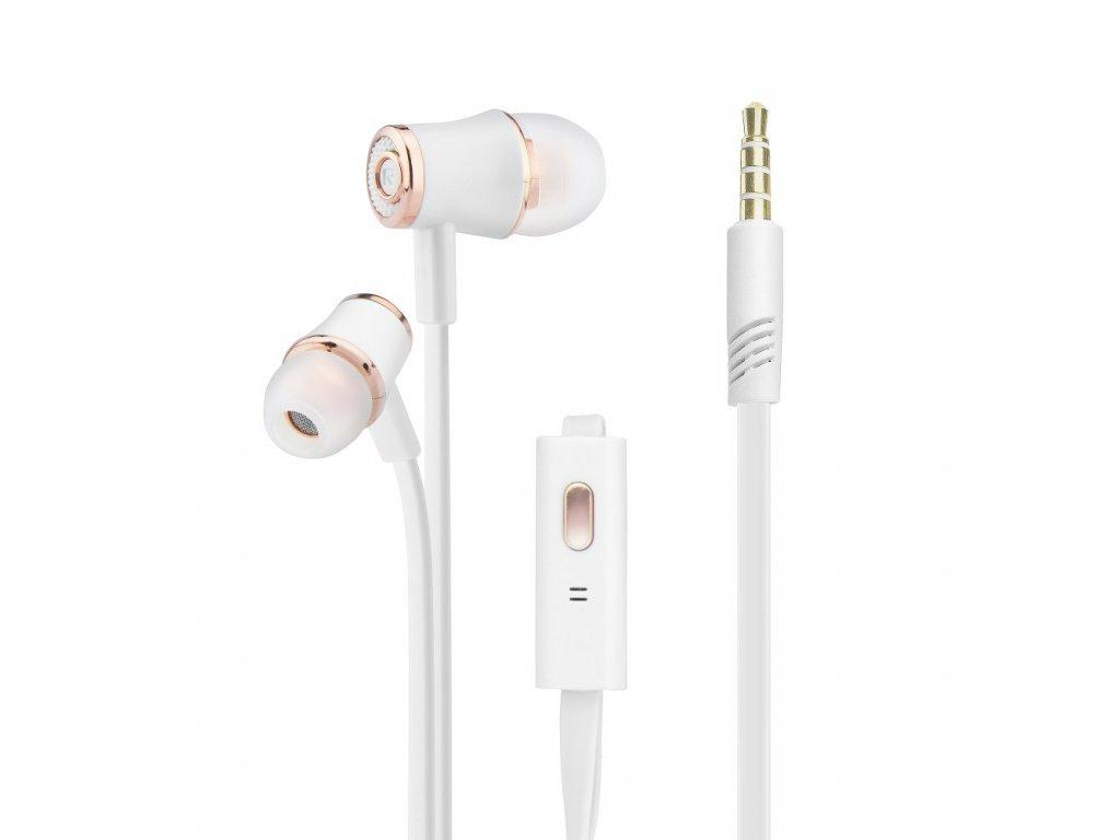 HF Blue Star Audio JM21 Univerzální 3,5 mm bílá / zlatá