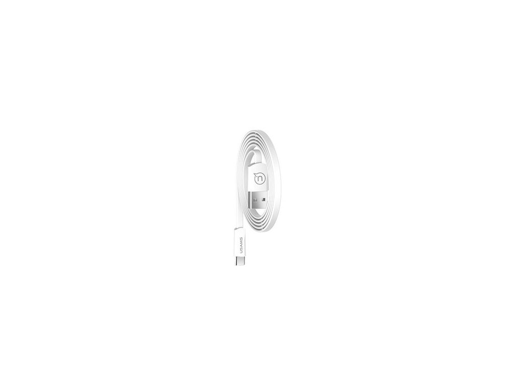 USAMS SJ200 Flat Datový Kabel Type C 2A White (EU Blister)