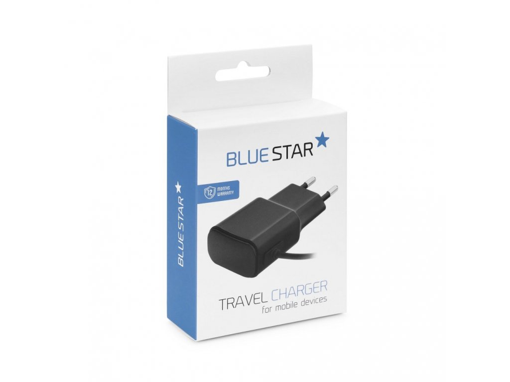 Cestovní nabíječ Micro USB Universal 1A  + Cable New Blue Star