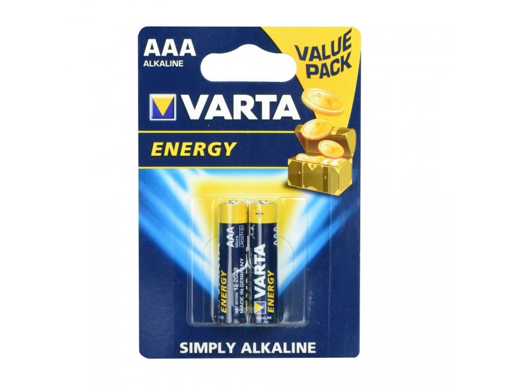 Alkaline batteries Varta R3 (AAA) 2 pcs Energy