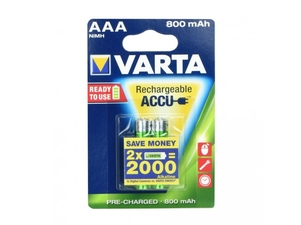 Rechargeable Baterie Varta R3 800 mAh (AAA) 2 kusů
