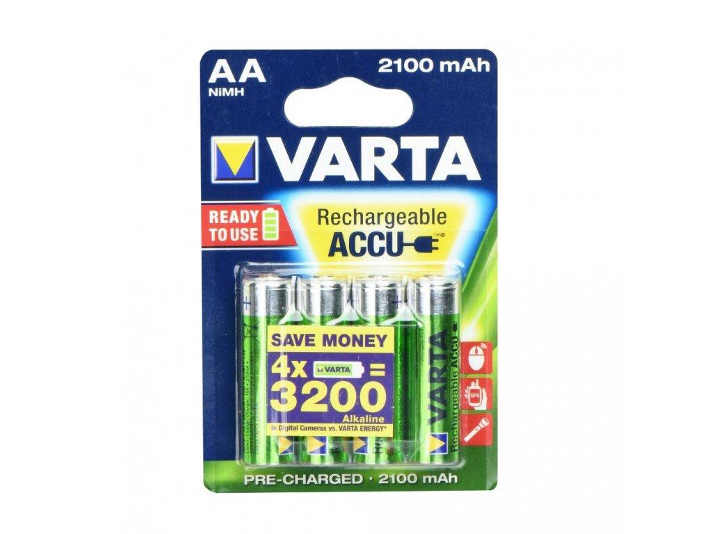 Rechargeable Baterie Varta R6 2100 mAh (AA) 4 kusů