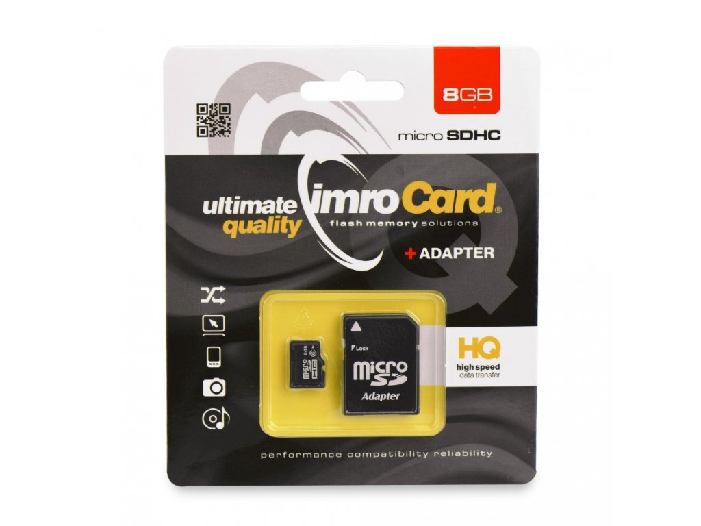 Memory Card Imro microSD 8GB with adapter
