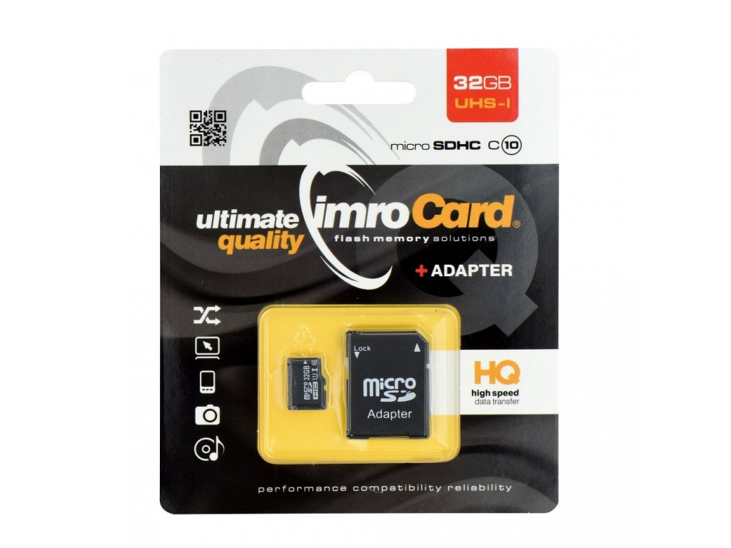 Memory Card Imro microSD 32GB with adapter / Class 10 UHS