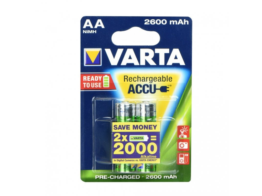 Rechargeable Baterie Varta R6 2600 mAh (AA) 2 pz Professional ready