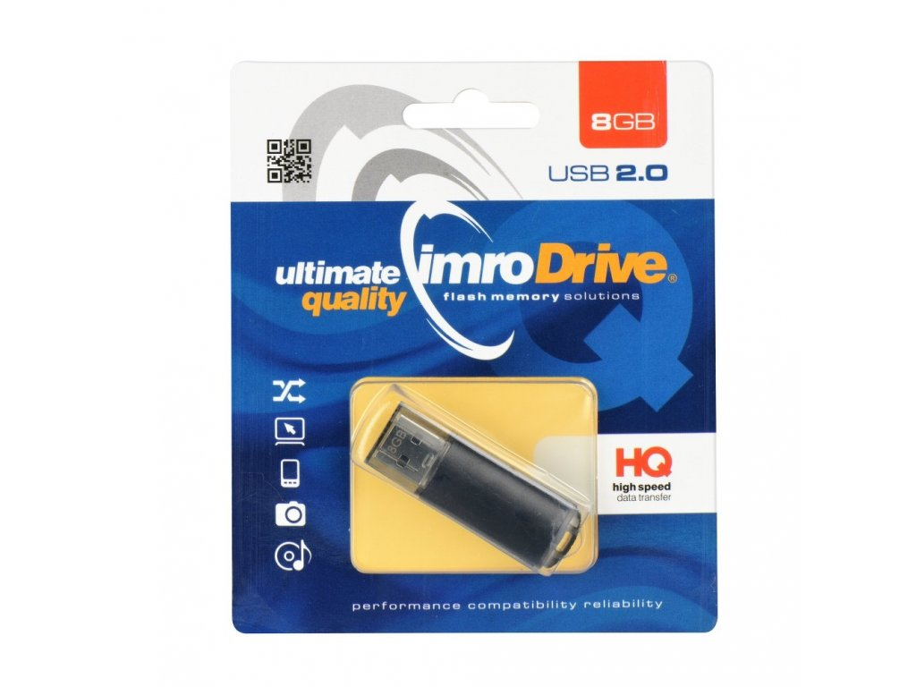 Portable Memory Pendrive Imro Black 8GB