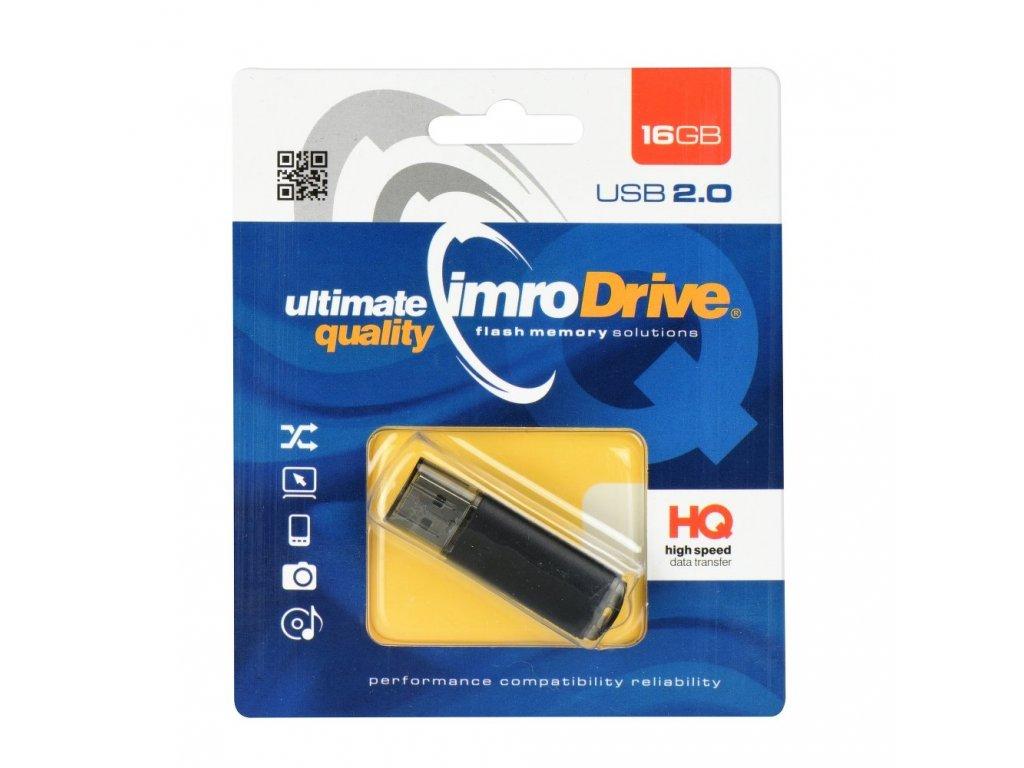Portable Memory Pendrive Imro Black 16GB