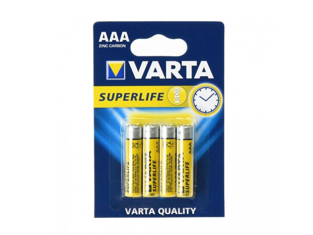 Zinc Baterie Varta Superlife R3 (AAA) - 4 kusy