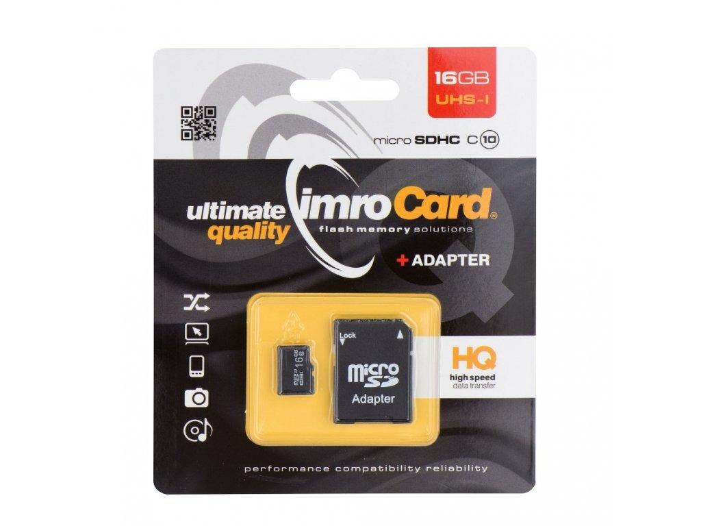 Memory Card Imro microSD 16GB with adapter / Class 10 UHS