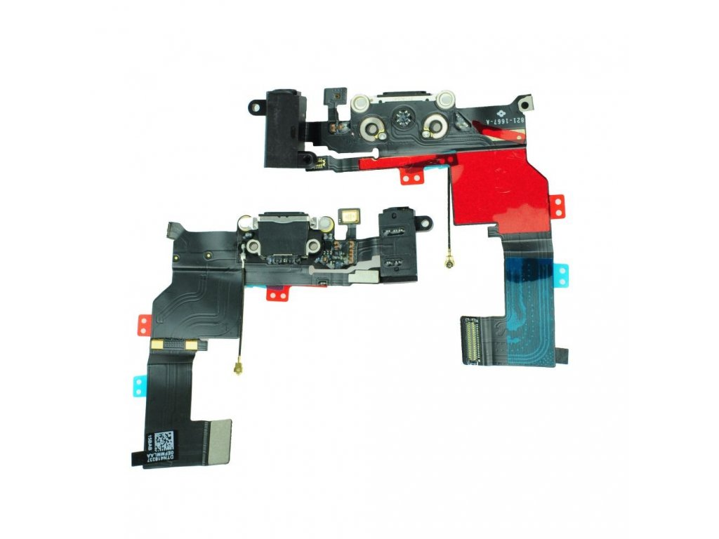 Charging Connector Flex Cable APP IPHO 5S black