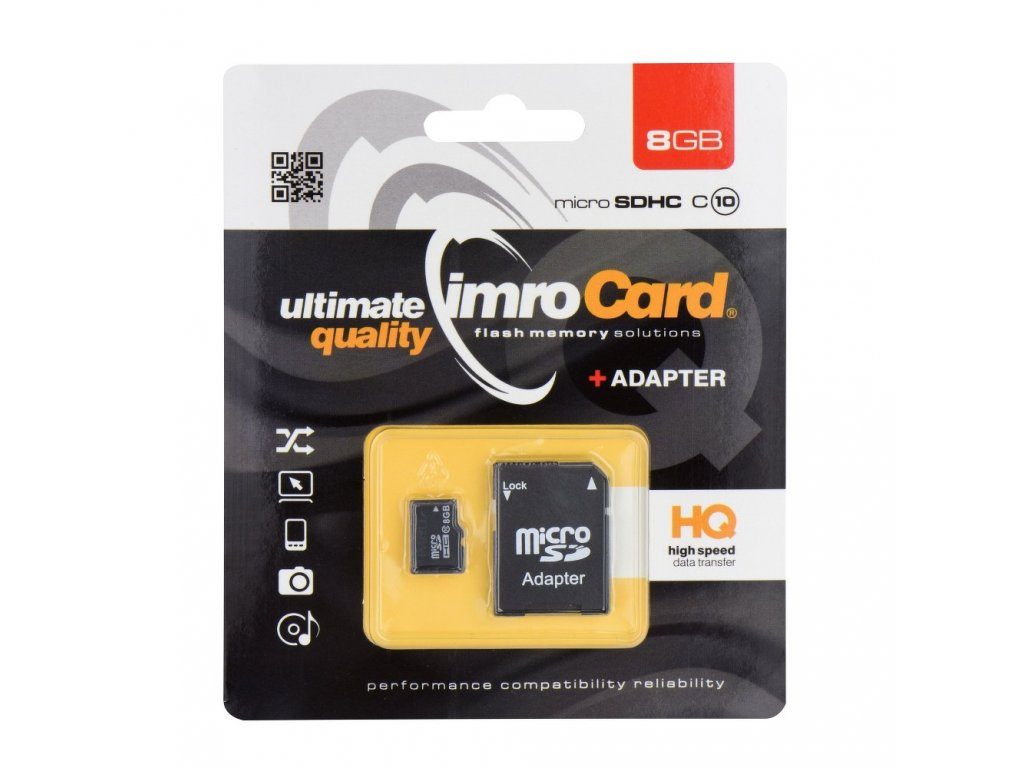 Memory Card Imro microSD 8GB with adapter / Class 10 UHS